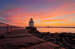 Bug Light Sunrise 1899 (Cindy Farr-Weinfeld) Tags: ocean sky lighthouse water rock clouds sunrise dawn coast lighthouses maine rocky atlantic southern coastal southportland buglight nikcolorefexpro topazadjust nikdfine20