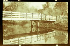 2012-11-13 RVG_9414bw Agfa Billy Zeewolde (Ralph on and off) Tags: bridge reflection film water analog vintage zeewolde adox agfabilly photographingnegatives blackandwhit