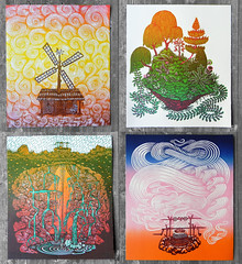 The Four Elements - Woodcut Set (Tugboat Printshop) Tags: print printmaking blockprint th woodcut woodblock reliefprint thefourelements woodcutprint theelements originalprints paulroden tugboatprintshop contemporaryprintmaking traditionalprintmaking valerielueth woodcutprintmaking pittsburghartists woodblockprintmaking pittsburghprintmaking affordableartprints colorblockprint colorwoodcutprints colorwoodcutprintsforsale originalwoodcuts originalreliefprint airearthwaterfire