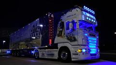 D - Trio Trans  >Bayern Star III<  Scania R09 620 TL (BonsaiTruck) Tags: berg night bayern star tl camion trucks ludwig airbrush scania rhön 620 lorries könig lkw logistik topline autohof rasthof r09 schondra triotrans