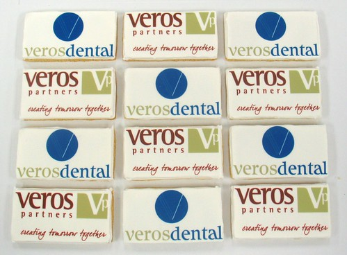 [Image from Flickr]:Veros Partner and Veros Dental Logo cookies