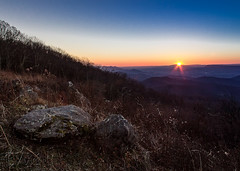 Mountainside sunset (GEHPhotos) Tags: uk sunset mountains landscape rocks skylinedrive shenandoahnationalpark phototype canoneos60d efs18200mmf3556is
