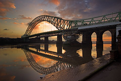 Bridge.......... (Chrisconphoto) Tags: reflections runcorn merseyside widnes goodlight runcornbridge