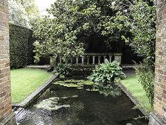 "Winchester: Small Garden with Lilly Pond • <a style=""font-size:0.8em;"" href=""http://www.flickr.com/photos/44019124@N04/8201107588/"" target=""_blank"">View on Flickr</a>"