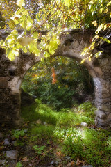 ... (Theophilos) Tags: old house nature grass leaves arch stones ruin crete  rethymno