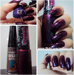 Violeta Acinzentado (Risqué) com Unconventional ? (Hits) (Camila (unhas)) Tags: hand nails hits nailpolish mão unhas risque esmaltes esmalte duochrome multichrome speciallita