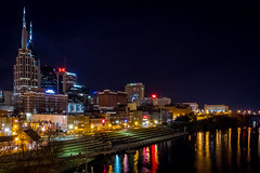 Nashville at Night (jeff_a_goldberg) Tags: unitedstates nashville tennessee cumberlandriver nashvilleskyline broadwayhistoricdistrict