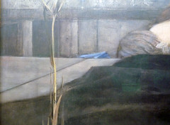 Fernand Khnopff, I Lock the Door Upon Myself, detail with spear