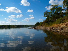 river landscape with blue sky and white clouds reflection (Maxim Tupikov) Tags: park wood travel blue camping trees summer sky cloud reflection travelling green tourism nature water clouds rural forest river wonder landscape outside freedom coast countryside waterfall reflex colorful paradise natural hiking stones farm space rustic meadow vivid environmental sunny panoramic entertainment serenity vegetation wilderness hillside habitat pure preserve preservation protected
