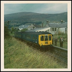 Travels With My Instamatic, Six.     1968. (Kingfisher 24) Tags: station scotland platform hills dollar dmu instamatic104 railwayenthusiasts
