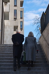 elegant couple ((noou)) Tags: winter london stairs back couple silent rich pinkfloyd stormthorgerson