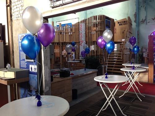 Tafeldecoratie 3ballonnen Stichting Duurzame Scholen Rotterdam