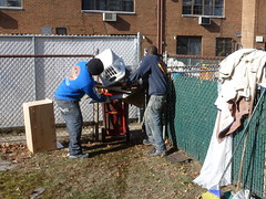Back yard flood damaged items removed after Sandy NY (The Trash it Man) Tags: hurricane cleanup howardbeach hurricanecleanup flooddamagecleanup hurricanesandy sandyaftermath