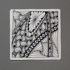 string 26 (shebicycles) Tags: pen pencil tile doodle tps zentangle string26