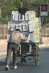 Street Pusher (cowyeow) Tags: street city travel india car work funny candid indian agra push effort cart carry overload overloaded loaded pushing pusher uttarpradesh funnyindia
