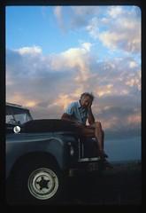 John after hard day of safari (hunky) Tags: africa man kenya safari landrover masaimara