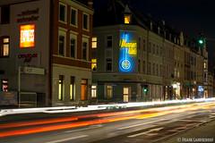 Berg.-Gladbacherstrasse bei Nacht