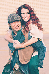 Canton_Editorial-7 (RaffaLUCE) Tags: woman man fashion vintage asian fun happy photography couple roswell style redhead editorial piggyback cantonstreet