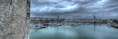 Harbour, La Rochelle, HDR (geoffbcn) Tags: panorama france panoramas larochelle francia hdr