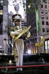 Festive NY   Rockerfeller Center Statue cymbals- (Singing With Light) Tags: city nyc november ny festive photography pentax manhattan 2012 k5 jjp singingwithlight
