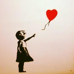 Girl with balloon - BANKSY (JAMES LORD productions) Tags: streetart art girl square graffiti paint heart balloon banksy spray squareformat aerosol bombing aerosolart sprayart srigraphie artderue lordkelvin arteverywhere iphoneography instagramapp uploaded:by=instagram