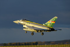 ZJ936/QO-C Typhoon Landing in the sun with dark sky. (Graham Baglin1) Tags: landing typhoon zj936qoc