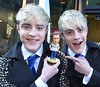 Jedward get in the Christmas spirit at Today FM studios, Dublin