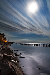 K7_13218 (Bob West) Tags: longexposure nightphotography moon ontario beach night lakeerie cloudy greatlakes fullmoon moonlight nightshots k7 erieau southwestontario bobwest pentax1224