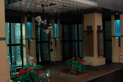 Operation Big Apple: Grey Stone Interior (Andreas) Tags: lighting lego diorama legolights thepurgeeu thepurgediorama