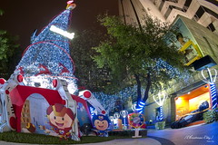 DSC02848 (Peter Kuo.) Tags: show christmas city bridge blue light sky people color tree beautiful look photography shot sony picture taiwan led explore 101 taipei tamron 1024mm