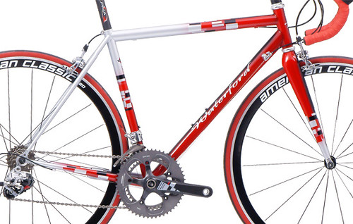"<p>Waterford 33-Series Race ready design with F1 Styling (Intense Red and Sterling Silver) and SRAM Red components.  <a href=""http://waterfordbikes.com/w/bikes/gpcomp/"" rel=""nofollow"">Learn more . . .</a>.</p>"