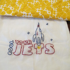 cool your jets (Orchard Corners) Tags: cool tea embroidery jets towel your gift
