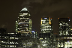 (MartynHall ) Tags: england canada london tower night square lights one cityscape cluster explore wharf docklands canary barclays eastend skyscrapper explored