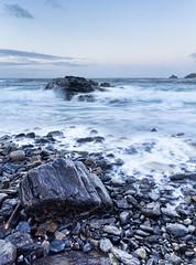 On The Beach (alexbaxterca) Tags: seascape beach canon landscape dawn rocks cornwall coastal capecornwall priestscove 60d landscapesshotinportraitformat