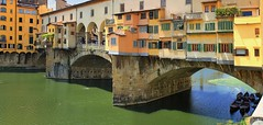 Ponte Vecchio is Florence's most photographed landmarks (Bn) Tags: park santa old city travel bridge trees summer vacation italy panorama holiday money hot streets tower art history weather gardens museum del river magazine gold florence italian topf50 europe italia gallery view bell maria churches tourist panoramic medieval ponte campanile explore palmtrees tuscany da vista firenze fl leonardo uffizi arno michelangelo viewpoint fiore toscane vinci topf100 piazzale renaissance oldest cultural boboli brunelleschi vecchio florentine cathdral florijn bankers uffizimuseum giottos florin 100faves 50faves panview binoculaur