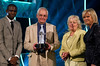 BBC Sports Personality of the Year - Fabrice Muamba presenting Sue and Jim Houghton with the Sport Unsung Hero award, Sue Barker - (C) BBC