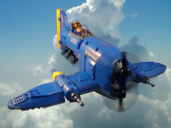 Blue Angel (JonHall18) Tags: plane fighter lego aircraft fantasy moc skyfi dieselpunk