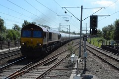 "English Welsh & Scottish Railways Liveried Class 66/0, 66057 (37190 ""Dalzell"") Tags: maroongold revised ews englishwelshscottishrailways db dbcargorail gm generalmotors shed class66 class660 66057 northwestern wigan"