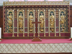 Chapel Reredos, Leicester Cathedral (Aidan McRae Thomson) Tags: leicester cathedral church leicestershire reredos