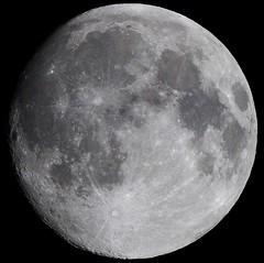 Moon waxing gibbous 93% (Nick.Ramsey) Tags: 93 astronomy canonef100mmf28lmacro eos7dmarkii macro moon nickramsey gibbous selenology waxing