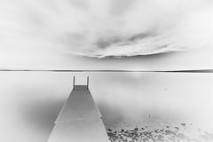Mallard Marsh Sunset 2.1 (Jack Lefor) Tags: dock water lake sunset minimal minimalism nature scenic landscape nikon northdakota nikond810 blackandwhite monochrome fineart