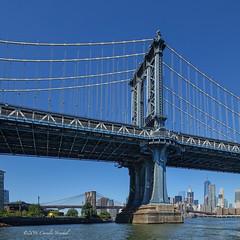 Two Classic Bridges (CVerwaal) Tags: bridges brooklynbridge eastriver manhattanbridge waterfront newyork ny usa sonyrx100iii
