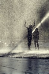 Cold Fun (Wijnand Kroes Photography) Tags: water cold fun kids childsplay playing silhouette