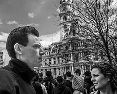 City Hall, 2016 (Alan Barr) Tags: philadelphia 2016 cityhall marketstreet 15thstreet cigarette street sp streetphotography streetphoto blackandwhite bw blackwhite mono monochrome candid people panasonic gx8 lumix