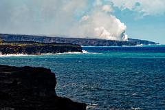 Lava Meets the Ocean (jthight) Tags: hawaiivolcanoes pacificocean nationalpark vrzoom28300mmf3556gifed kilauea hawaii september steam lavarock lightroom ocean water waves clouds on1pics hawaiivolcanoesnationalpark sky seascape volcano nikond500 bigisland puuoocrater pāhoa unitedstates us