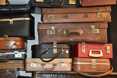 Suitcases (philmatey) Tags: junk suitcase retro vintage luggage