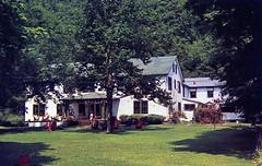 Pocono Lodge Matamoras PA (Edge and corner wear) Tags: vintage postcard pc pocono mountains poconos lodge