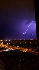 Storm in Barcelona from the hotel room (Flossyuk) Tags: nature lightening storm weather