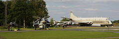 Mirage, Gannet, Harrier & Nimrod (Ronnie Macdonald) Tags: ronmacphotos yorkairmuseum rafelvington aircraft mirage gannet xl502 harrier xv748 nimrod xv250
