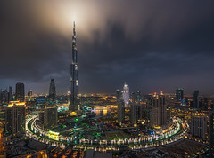 Ring of Darkness (albert dros) Tags: dubai bluehour uae ring darkness travel skyscrapers skyline cityscape cityscapes albertdros weather night sciencefiction